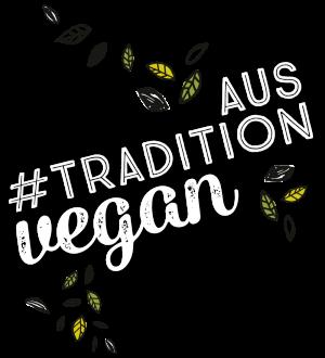 Aus #Tradition vegan mit illustrierten Blättern