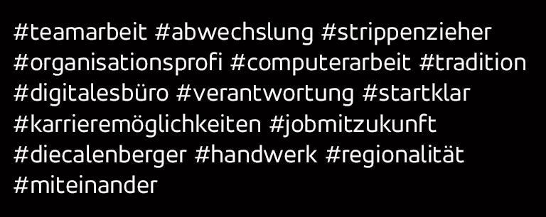 Hashtags zum Thema Büro