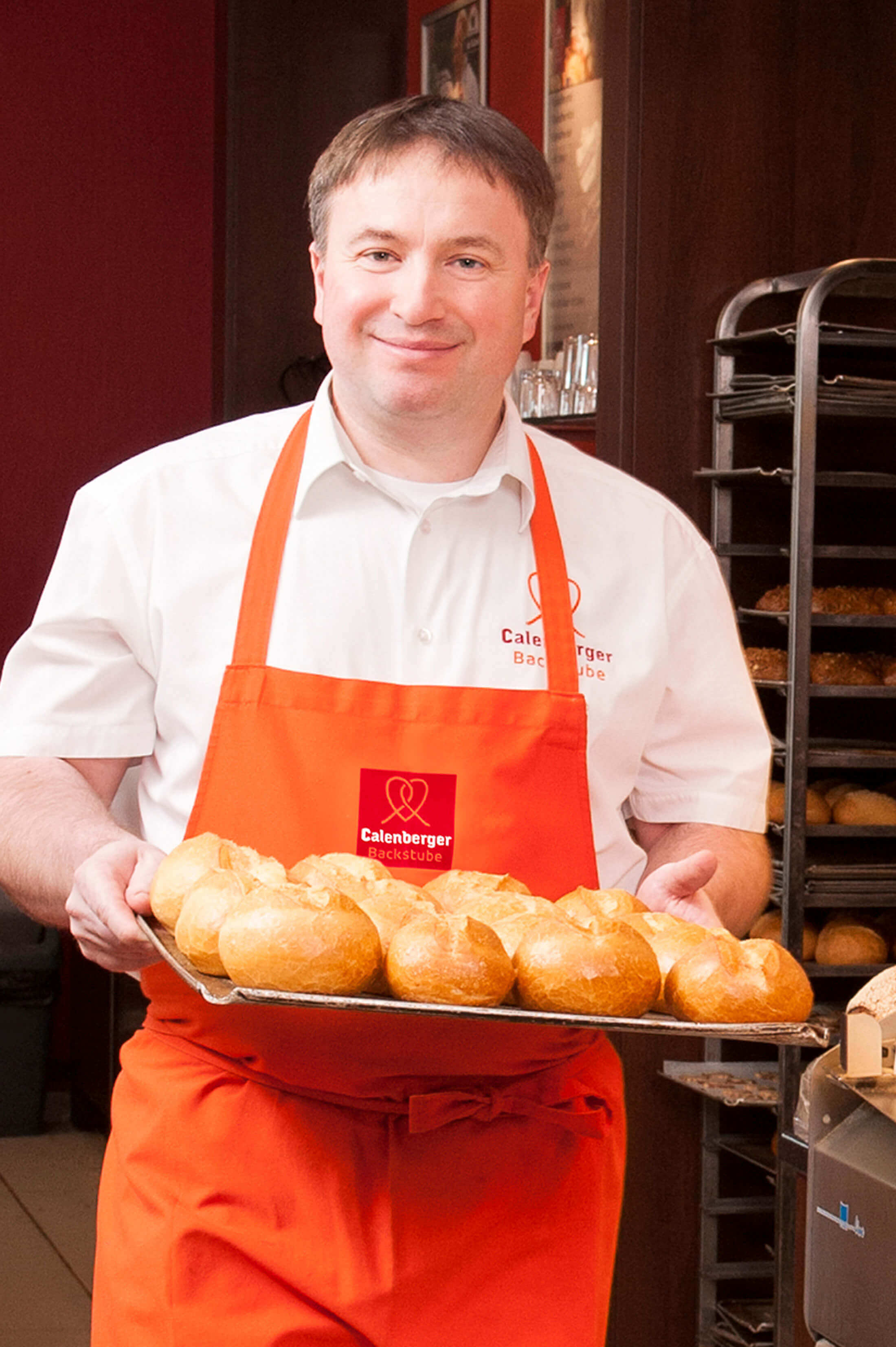 Frische Brötchen direkt aus dem Ofen