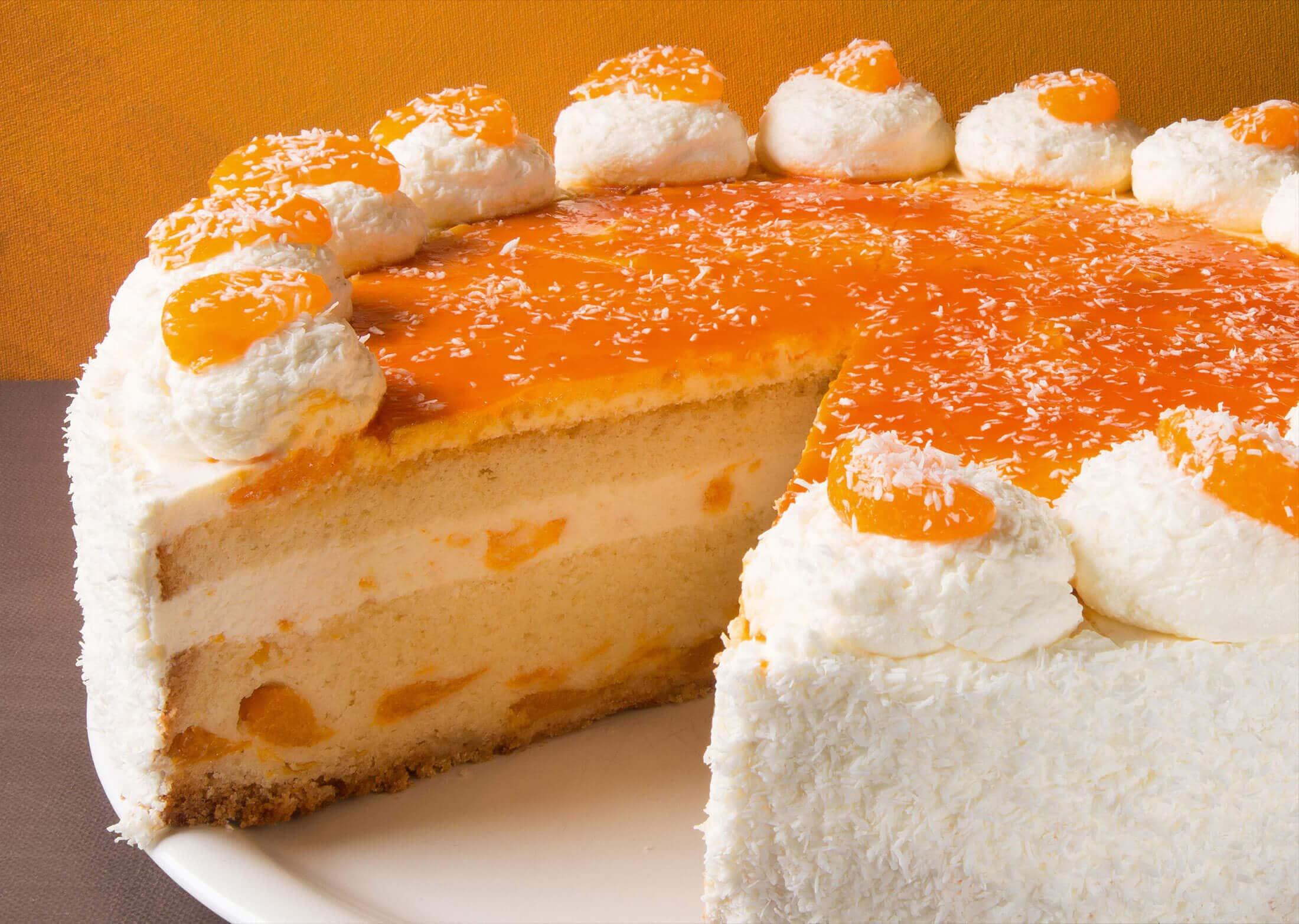 Monatstorte Juni – Mandarinen-Kokos-Torte