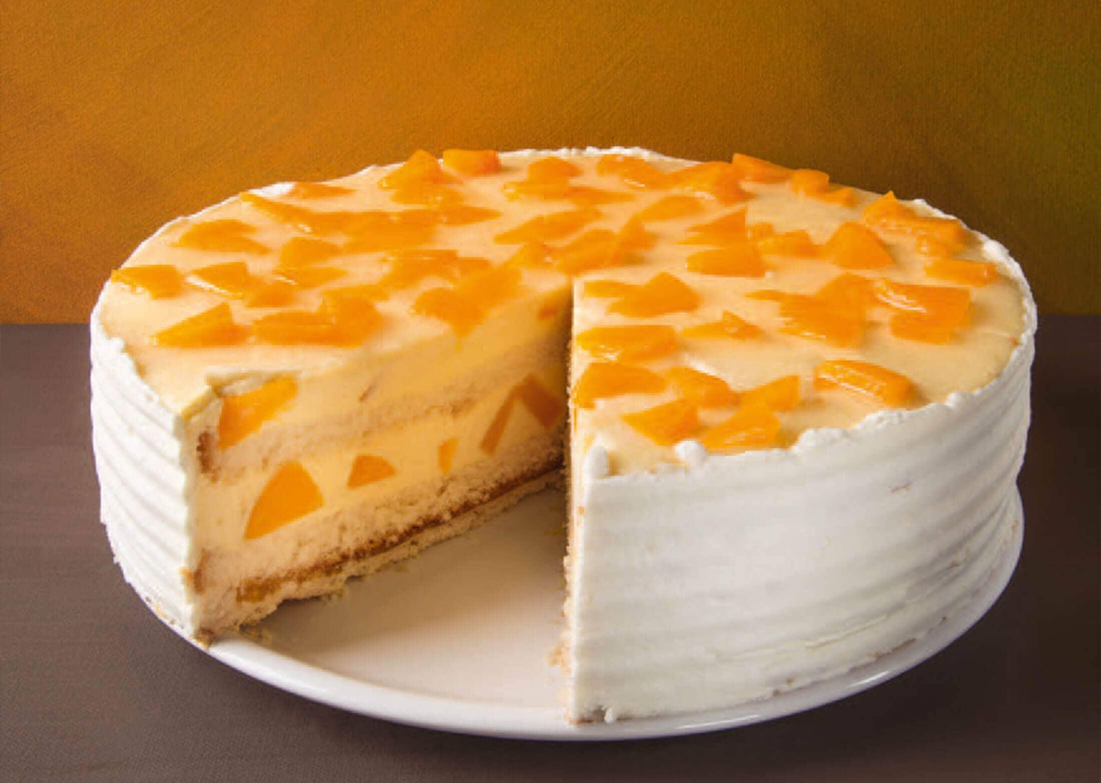Monatstorte August – Pfirsich-Marakuja-Torte