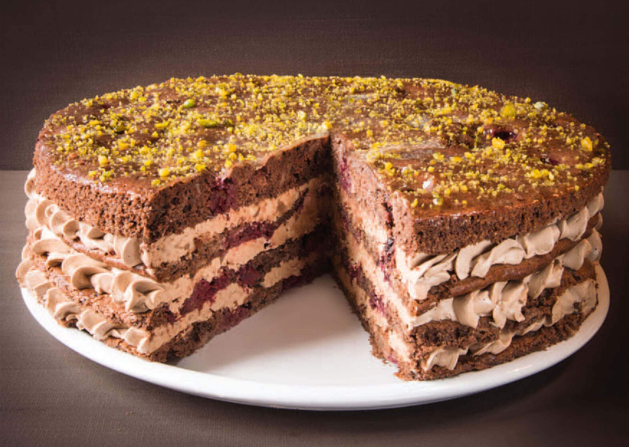 Monatstorte Dezember – Nougat-Kirsch-Torte