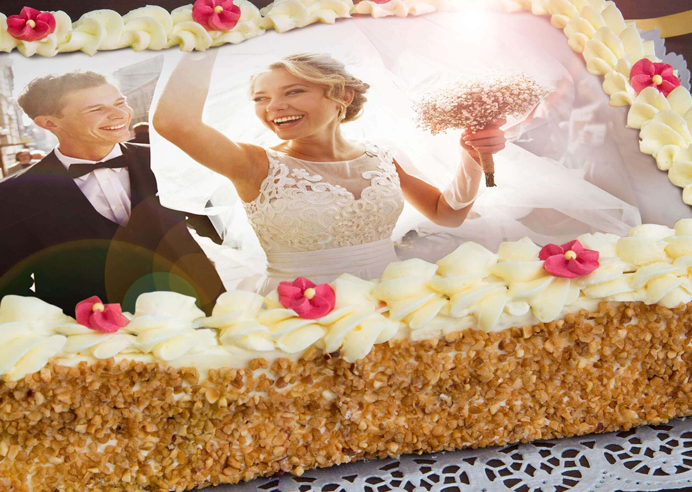 Hochzeit-Wunschbild-Torte
