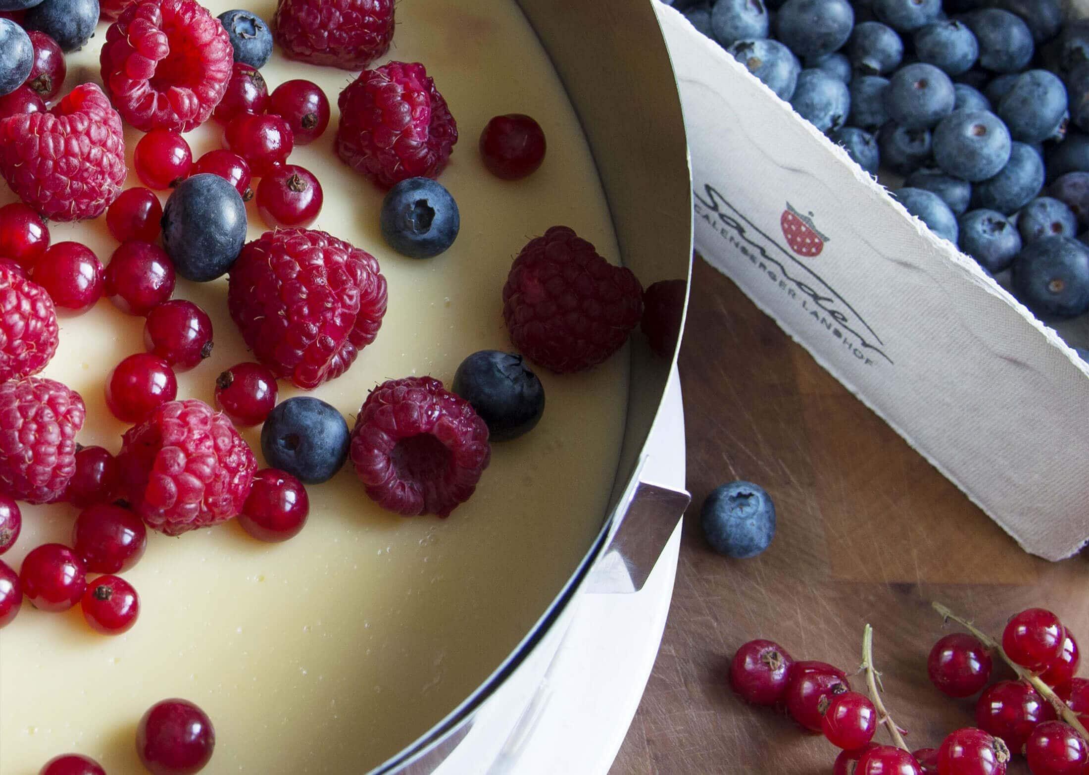 Obst-Torten der Saison
